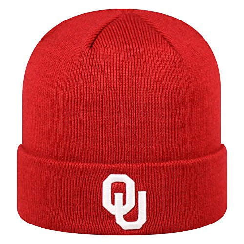 Top of the World Oklahoma Sooners Official NCAA Cuffed Knit Tow Beanie Stocking Stretch Sock Hat Cap 935805