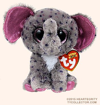 New TY Beanie Boos SPECKS the Spreckled Elephant (Glitter Eyes) (Regular Size - 6 inch)Cute Plush Toys 6'' 15cm Ty Plush Animals Big Eyes Eyed Stuffed Animal Soft Toys for Kids Gifts … by T&Y