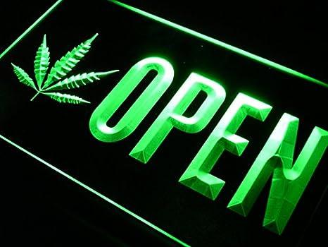 Amazoncom Advpro Open Marijuana Hemp Leaf High Life Led Neon Sign