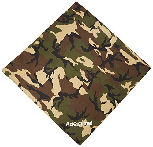 (Mirage Pet Products Adopt Me Screen Print Bandana Green Camo, One Size)