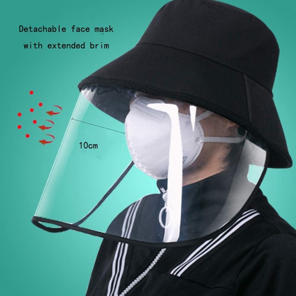 L-H Antisalpicaduras 360 /° Protecci/ón de Seguridad cubierta for el anti-escupir saliva prevenci/ón de epidemias 100/% algod/ón Protecci/ón for los ojos de la cara transpirable anti-UV anti-polvo tapa prot