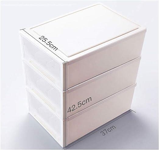 ZZHYG Almacenamiento de Ropa Interior - Caja Tipo cajón Bragas separadas Calcetín Caja de Almacenamiento Partición Organizar estantes de Almacenamiento (Color : White 3): Amazon.es: Hogar