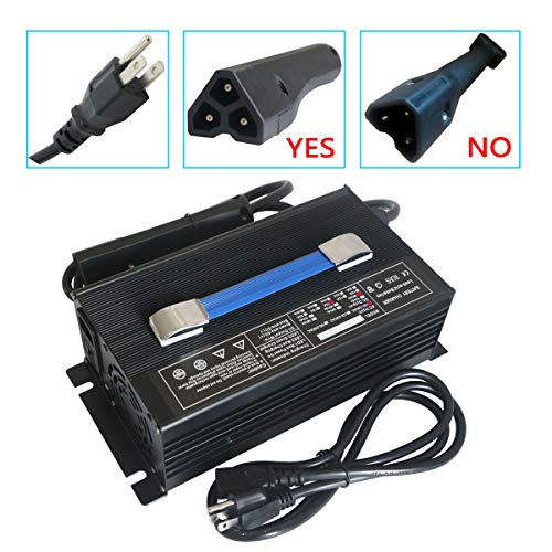 Abakoo New 48V 15A RXV Golf Cart Battery Charger for Star Ez-Go Club Car DS EZgo TXT Yamaha with RXV Plug 3 Prong Connector
