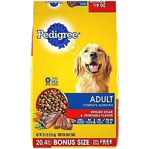 Pedigree Complete Nutrition Adult Dry Dog Food Grilled Steak & Vegetable Flavor, 20.4 Lb. Bag 57