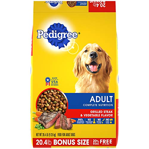 - Pedigree Complete Nutrition Adult Dry Dog Food Grilled Steak & Vegetable Flavor, 20.4 Lb. Bag