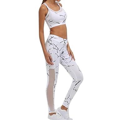 Juleya Survêtements Femmes Vêtements Sport Yoga Ensemble Sport  Soutien-Gorge sans Manches Tank Top + 1b30c550f9e