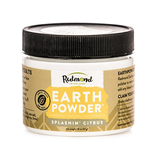 REDMOND Earthpowder - All Natural Tooth and Gum Powder Bentonite Clay, Vegan Organic Non-Fluoride Non GMO Real Ingredients Toothpaste, Citrus (4 Ounce Tube)
