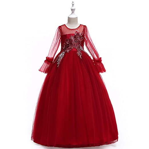 CHANMI Vestido de Princesa para niñas Vestido de niña de Las ...