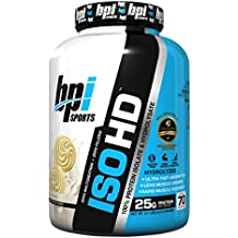 BPI Sports ISO HD 100% Protein Isolate & Hydrolysate, Vanilla Cookie, 4.8 Pound.