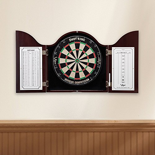 Best Price Viper Shot King Sisal/Bristle Steel Tip Dartboard with Staple-Free Bullseye and 6 Darts