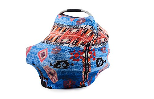 Baby Car Seat Child Carrier - Cover and Canopy - Cute Unique Summer Flamingo Design for Stroller, Carseats, Best Baby Shower Gift Stylish New Moms Love by Levi James ()