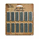 Metal Word Sticks by Tim Holtz Idea-ology, 12 Sticks per Pack, 1/2 x 1-1/2 Inches, Antique Nickel Finish, TH92817