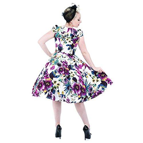 H&R Pansies 136 Kleid (Weiß/Violett) - Small