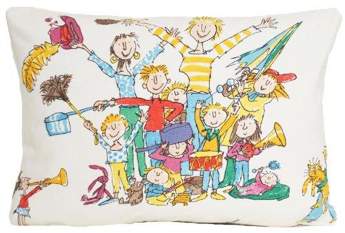(Kids Room Fun Decorative Pillow Case Children Musicians White Cushion Cover Quentin Blake Fabric All Join 16