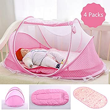 Amazon.: Baby Travel Bed, Portable Folding Baby Crib Mosquito