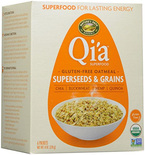 Nature's Path Qi'a Superfoods Gluten-Free Oatmeal - Super Seeds and Grains - 6 ct
