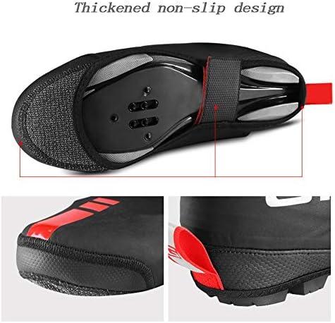 メンズ サイクリング シューズカバー 自転車乗馬マウンテンバイクの靴カバー防風防水防塵屋外乗馬用品 防風 冬 軽量 (Color : Black, Size : M)