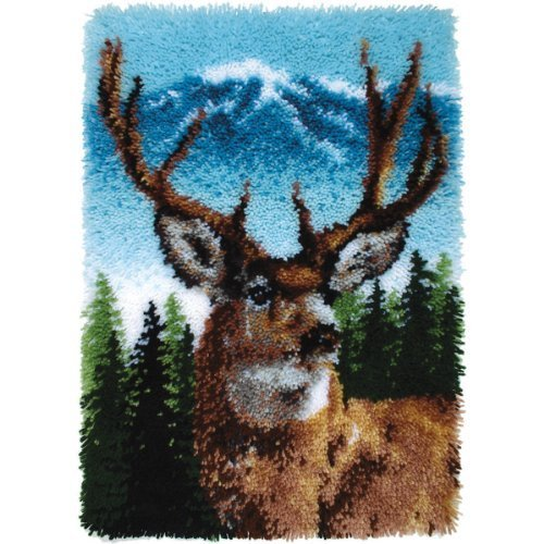 "Brand New Wonderart Classic Latch Hook Kit 20""""X30""""-Deer Brand New"
