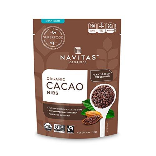 Navitas Organics Cacao Nibs, 4 oz. Bag — Organic, Non-GMO, Fair Trade, Gluten-Free