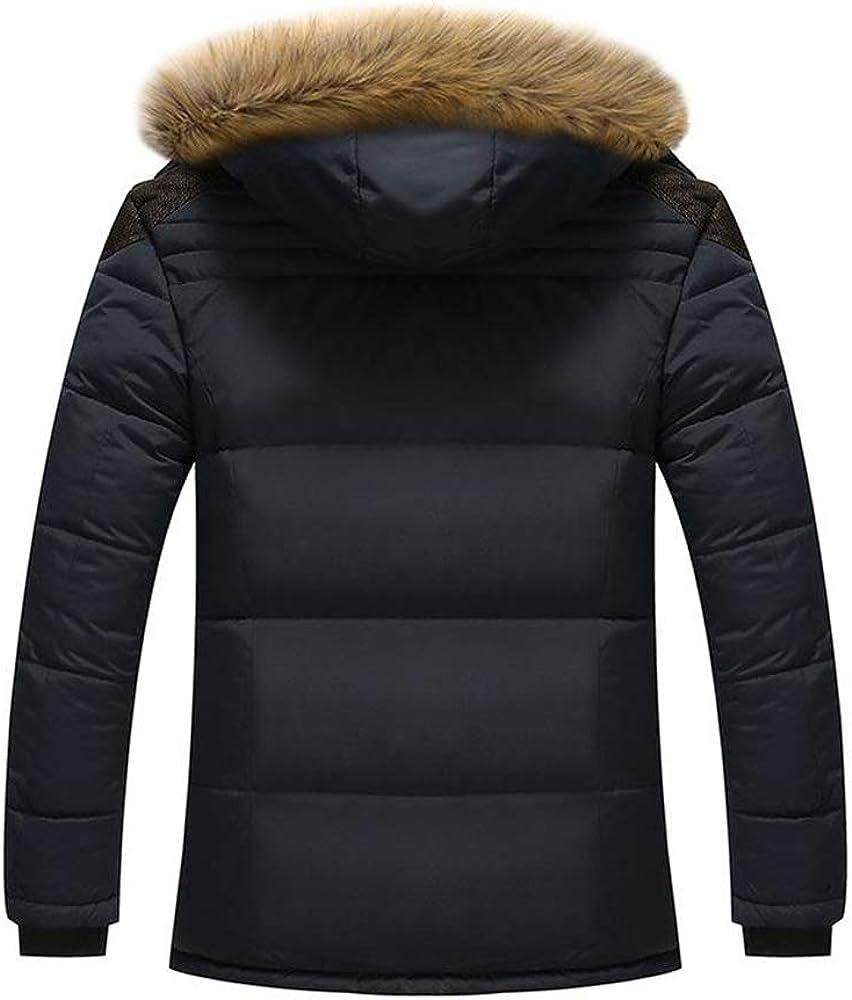 Loqono Winter Men Plus Velvet Jacket Casual Business Thick Coat Warm Coat