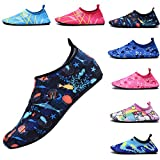 FASHOE Kids Swim Shoes Quick Dry Barefoot Socks Toddler Water Shoes Baby's Boy's Girl's- 01-Blue-34