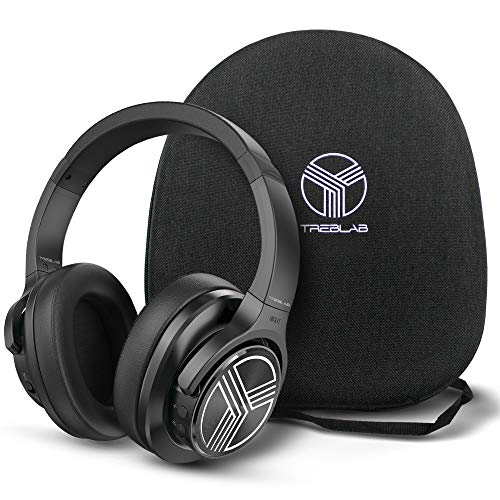 TREBLAB Z2   Over Ear Workout Headphones with Microphone   Bluetooth 5.0, Active Noise Cancelling (ANC)   Up to 35H…