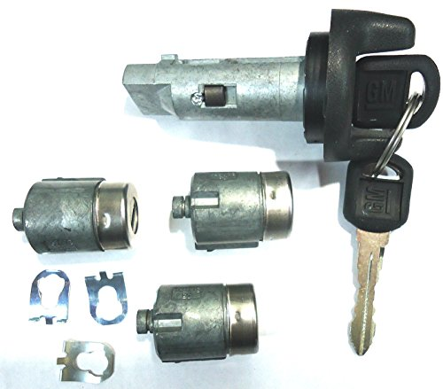 (CHEVY GMC OEM 95-97 Ignition Key Switch Cylinder & Door Lock Set W/ 2 Keys)