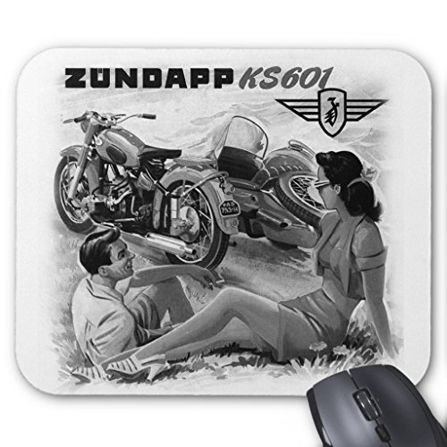 Zazzle Zundapp Vintage Motorcycle Sidecar Ad Art Mouse, used for sale  Delivered anywhere in USA