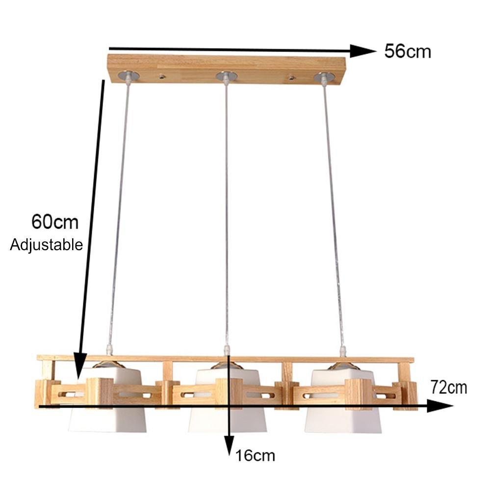 XY-QXZB Lámparas de techo colgantes hechas a mano de madera ...