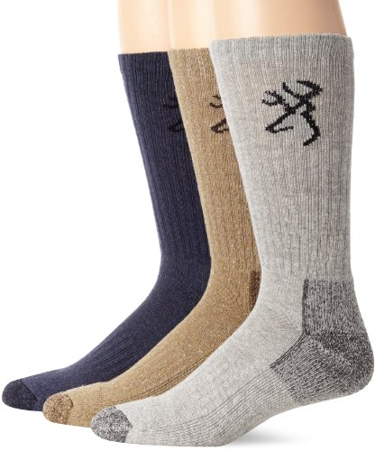 Browning Hosiery Men's Casual Work Crew Socks-Pack of 3