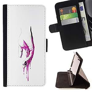 Momo Phone Case / Flip Funda de Cuero Case Cover - Rosa Mano Sangre - Pop Art - Sony Xperia M2