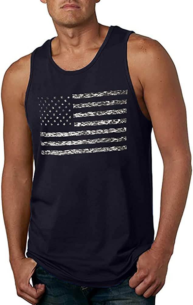 LUKYCILD American Vintage Flag Men Tank Tops Classic Patriot USA Stripes and Star Gift Vest at  Men's Clothing store