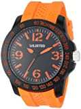 UNLISTED WATCHES Men's UL1241 City Streets Round Black Case Dial Orange Details and Strap Watch, Watch Central