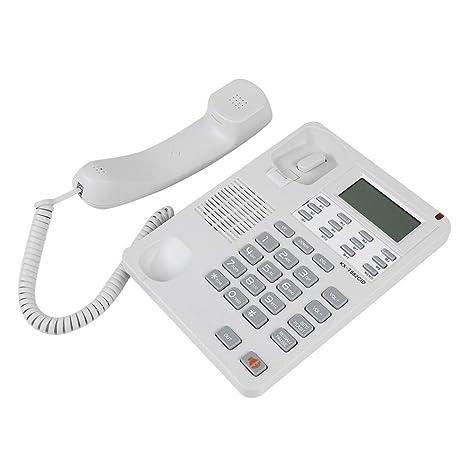 Tonysa Teléfono de Escritorio con Cable, FSK/DTMF Teléfono ...