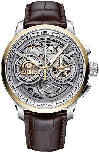 - Maurice Lacroix Masterpiece Skeleton Automatic Watch, Chronograph, 24K Gold