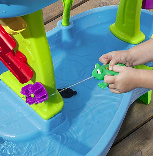 51lwrHJPpZL - Step2 Rain Showers Splash Pond Water Table | Kids Water Play Table with 13-Pc Accessory Set