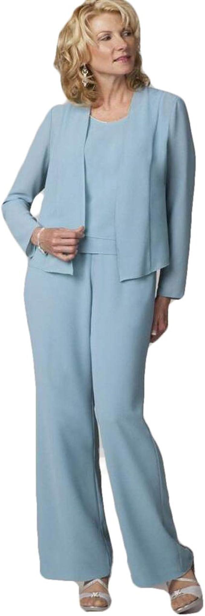 Amazon.com: WZW - Pantalón para madre de la novia, color ...