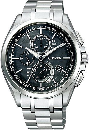 CITIZEN watch ATTESA Atessa Eco-Drive Eco-drive radio clock direct flight needle display type thin mass media model AT8040-57E Men's ()