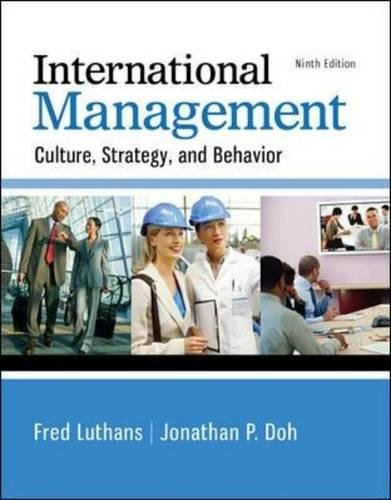 International Management: Culture, Strategy, and Behavior cover