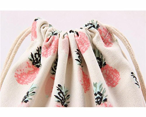 Canvas Printing Storage Bag Beam Bag Bag Gift Travel Vibola Port Pineapple Drawstring qfWHTA
