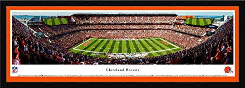 Cleveland Browns - Single Mat, Select Framed NFL Print by Blakeway Panoramas