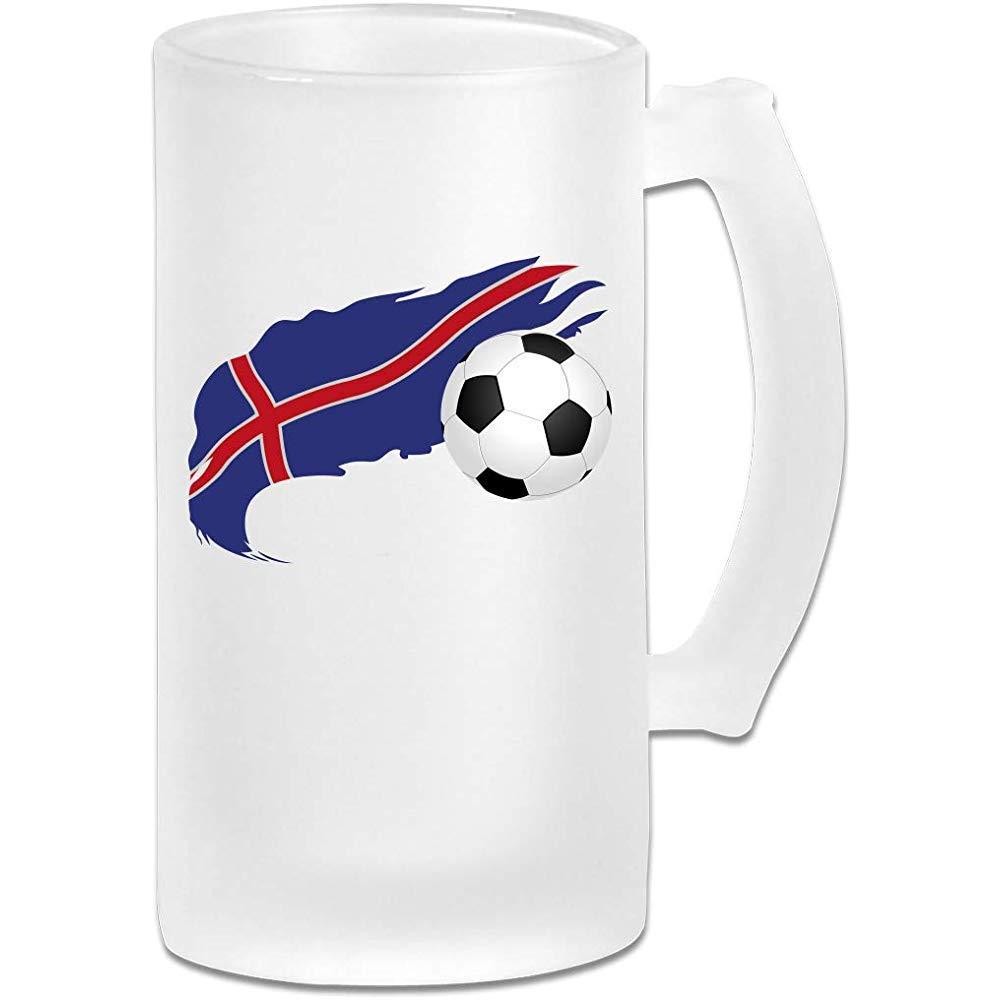 Balón de fútbol con la bandera de Islandia Jarra de cerveza Stein ...