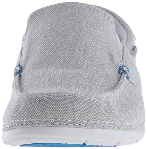 Boat Shoe M Line Crocs Ultramarine Beach Men's Light Canvas Grey fYY1Xw