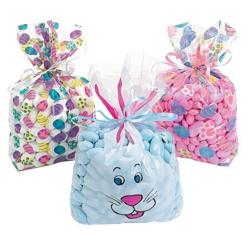 Easter Treat Bags filled with treats are nice Easter basket stuffers for tweens and teens