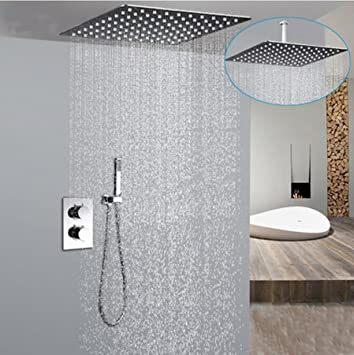 mounted mount flush ceiling rain rainfall heads reviews shower head