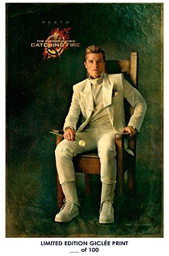 Rare Poster thick josh hutcherson The Hunger Games: Catching Fire peeta movie Reprint #'d/100!