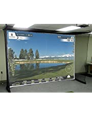 Impact screen, resistant canvas golf simulator