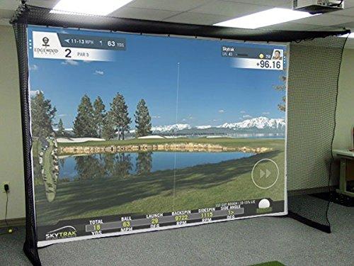 Impact Screen–Resistant Canvas Golf Simulator