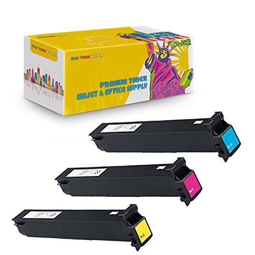 Bizhub C250 Yellow Toner - New York TonerTM New Compatible 3 Pack 8938-508 8938-507 8938-506 High Yield Toner for Konica-Minolta : BizHub C250 | C252. --Yellow Cyan Magenta