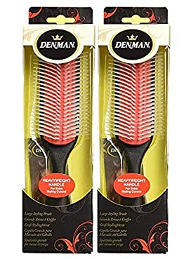 Denman Heavyweight 9 Row Styling Brush D5, VALUE 2 PACK!
